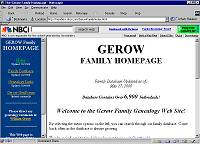 Gerow Family Genealogy Website