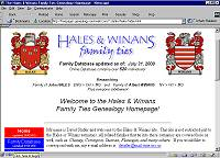 Hales and Winans Genealogy Website